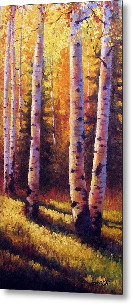 Light Metal Print featuring the painting Golden Light by David G Paul