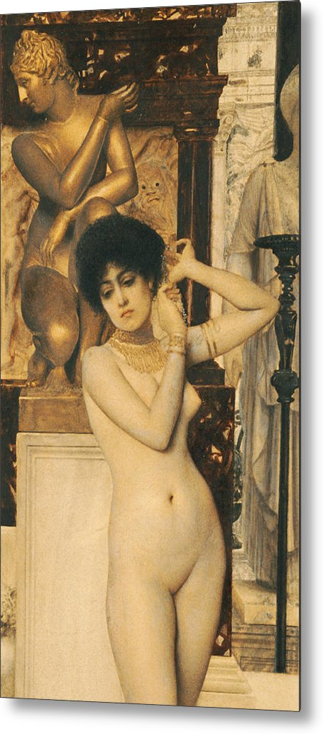 Klimt Metal Print featuring the painting Study For Allegory Of Sculpture by Gustav Klimt