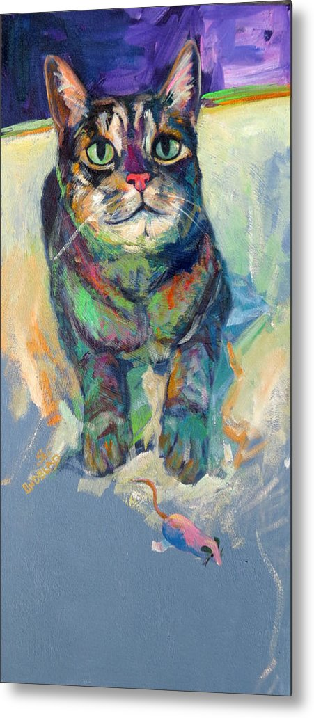 The Mouse Metal Print featuring the pastel The Mouse by Sandy Lindblad
