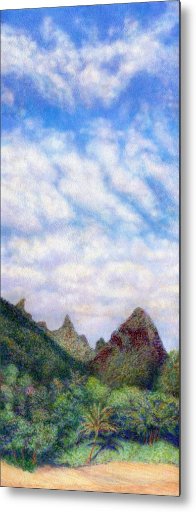 Coastal Decor Metal Print featuring the painting Island Sky by Kenneth Grzesik