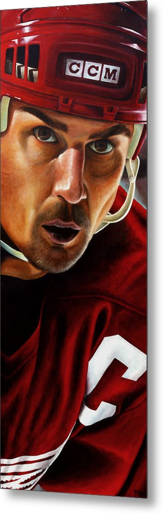 Sports Metal Print featuring the painting Stevie Y by Marlon Huynh