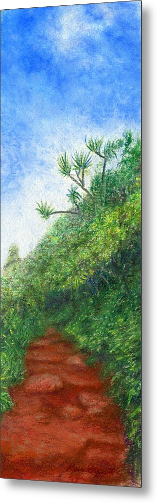 Coastal Decor Metal Print featuring the painting Along The Trail by Kenneth Grzesik