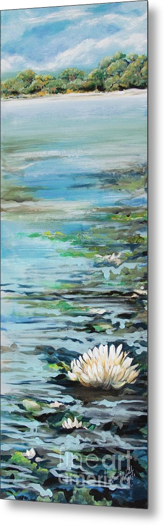 Lily Pond Metal Print featuring the painting Considering Lily by Michele Hollister - for Nancy Asbell