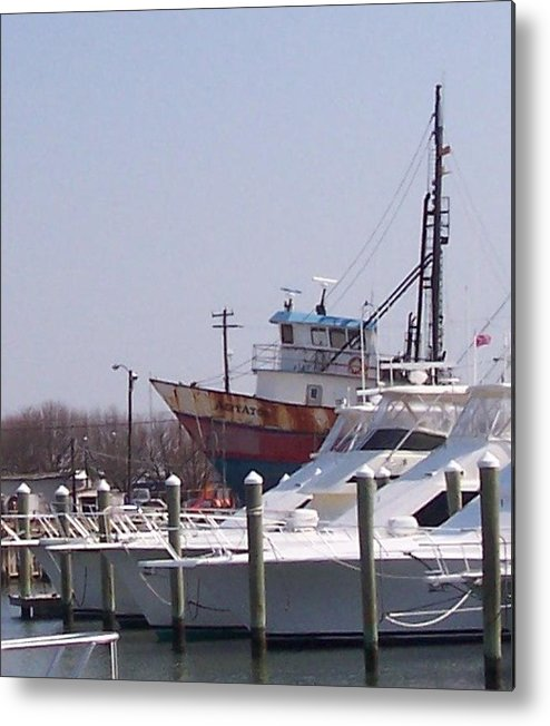 Boat Metal Print featuring the photograph Boats Docked by Pharris Art