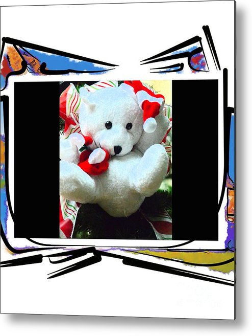 Teddy Metal Print featuring the photograph Child's Teddy Bear by Kathleen Struckle