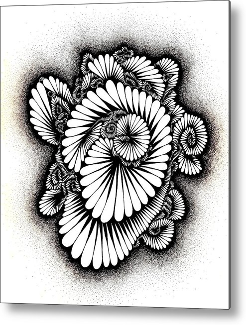 Coral Metal Print featuring the drawing Coral Burst by Gabe Art Inc
