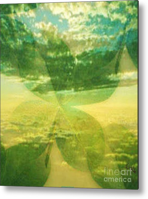 Mixed Media Metal Print featuring the digital art Finding Your Clover by PainterArtist FIN