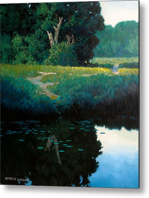 Landscape Metal Print featuring the painting Lily Pads by Kevin Lawrence Leveque