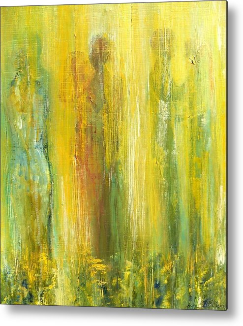 In Focus Metal Print featuring the painting Love In Yellow by Carol P Kingsley