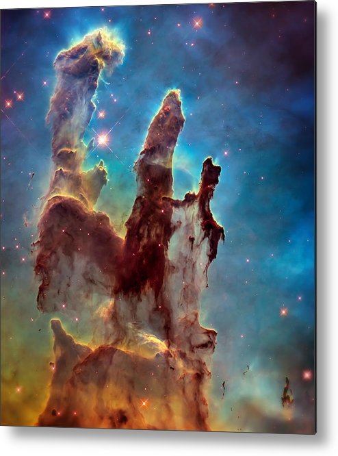 Pillars Of Creation Metal Print featuring the photograph Pillars Of Creation In High Definition Cropped by Jennifer Rondinelli Reilly - Fine Art Photography