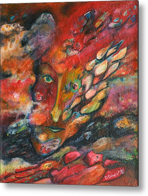 Abstract Art Metal Print featuring the painting Revelation I by Daniel Dinev