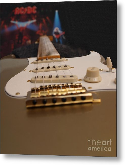 Squier Metal Print featuring the photograph Squier Stratocastor Guitar - 3 by Vivian Martin