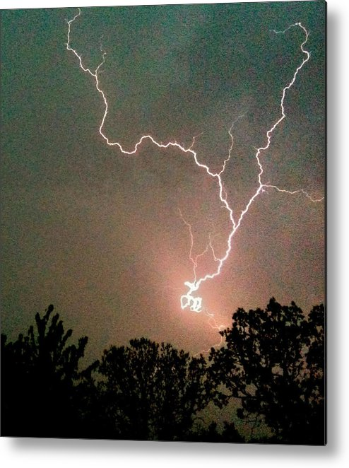 Lightning Photographs Metal Print featuring the photograph Lightning Strike by Kristina Chapman