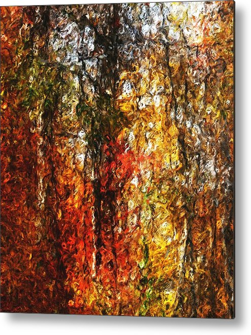 Photo Manipulation Metal Print featuring the digital art Autumn In The Woods by David Lane