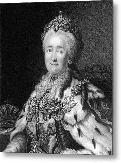 1700s Metal Print featuring the photograph Catherine The Great, Empress Of Russia by Middle Temple Library