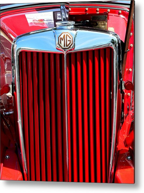 Mg Metal Print featuring the photograph Classic Red Mg by Jeff Lowe