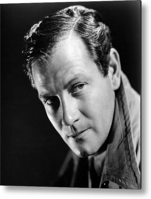 1940 Movies Metal Print featuring the photograph Foreign Correspondent, Joel Mccrea, 1940 by Everett
