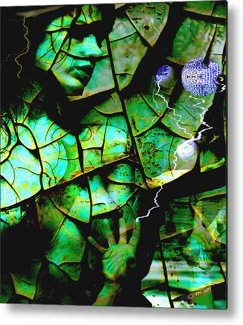 Mother Earth Metal Print featuring the digital art Mother Earth by Yvon van der Wijk