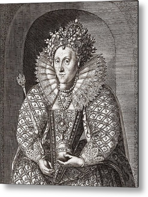 Spanish Armada Metal Print featuring the photograph Queen Elizabeth I, English Monarch by Middle Temple Library