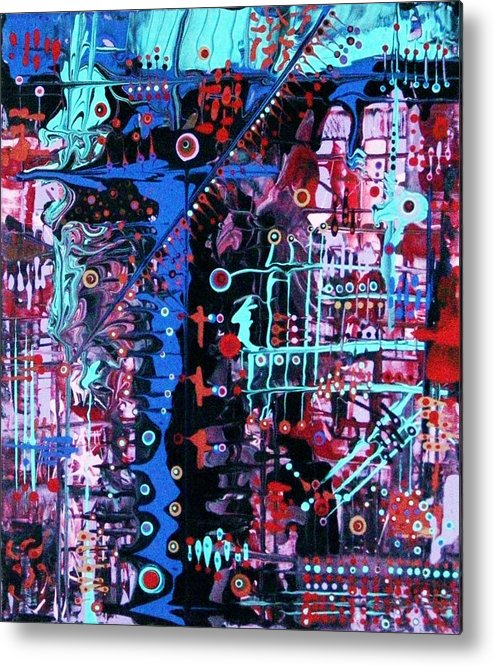 Abstract-expressionism Metal Print featuring the painting Remember When All You Did With Mondays Was The Laundry by Charlotte Nunn