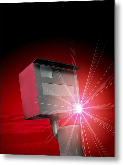 Speed Camera Metal Print featuring the photograph Speed Camera by Victor Habbick Visions