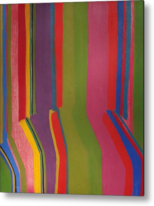 Stripes Metal Print featuring the painting Stripes by Rick Ahlvers