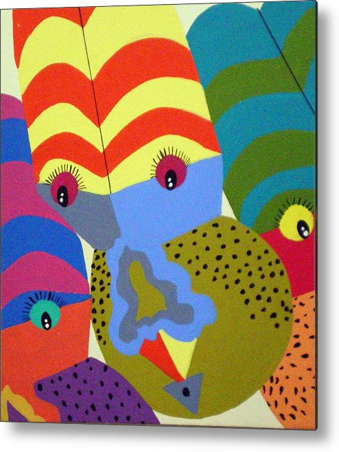 Clown Metal Print featuring the painting Clowns by Tammera Malicki-Wong
