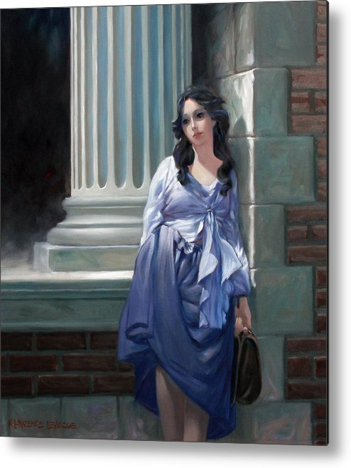 Figurative Metal Print featuring the painting Gone With The Wind by Kevin Lawrence Leveque