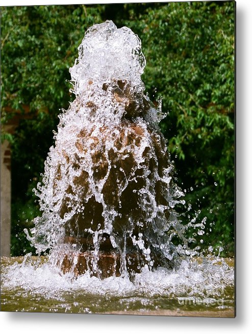 Water Metal Print featuring the photograph Water Fountain by Dean Triolo