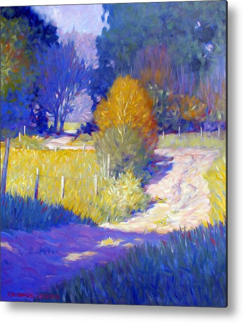 Landscape Metal Print featuring the painting Back Road by Kevin Lawrence Leveque