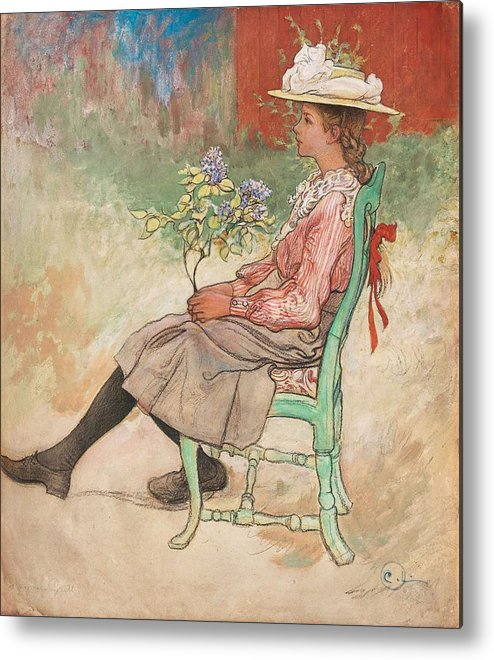 Girl Metal Print featuring the painting Carl Larsson, Dagmar Grill by Carl Larsson