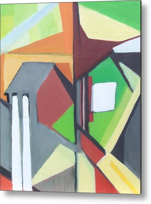 Contemporary Painting Metal Print featuring the painting A Jersey Abstraction by Ron Erickson