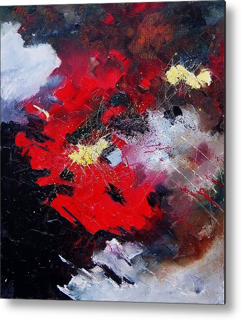 Abstract Metal Print featuring the painting Abstract070406 by Pol Ledent