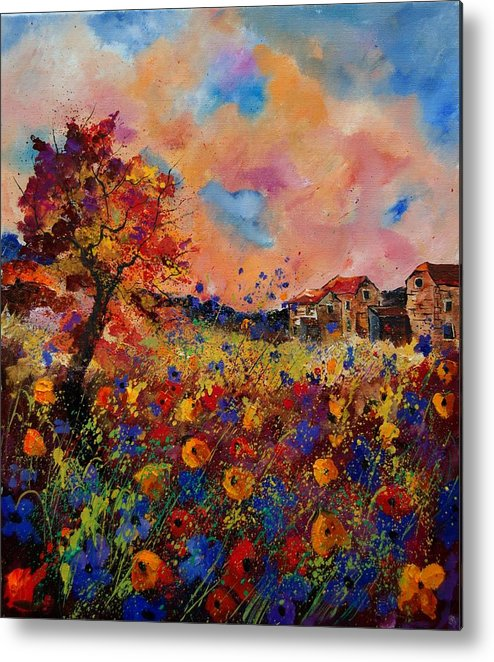 Poppies Metal Print featuring the painting Autumn Colors by Pol Ledent