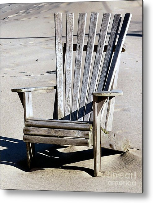 Beach Chair Metal Print featuring the photograph Be Seated by Janice Drew