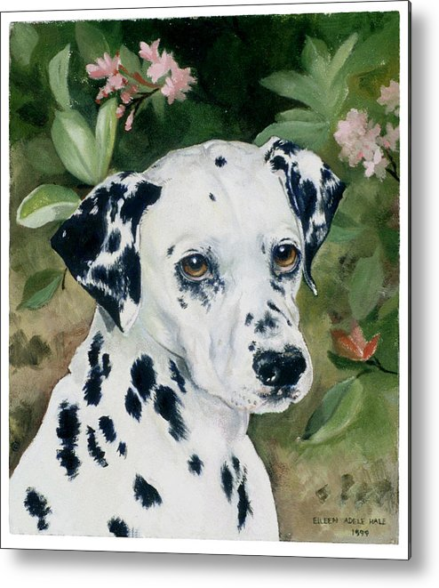 Portrait Metal Print featuring the painting Beaudiddeley by Eileen Hale