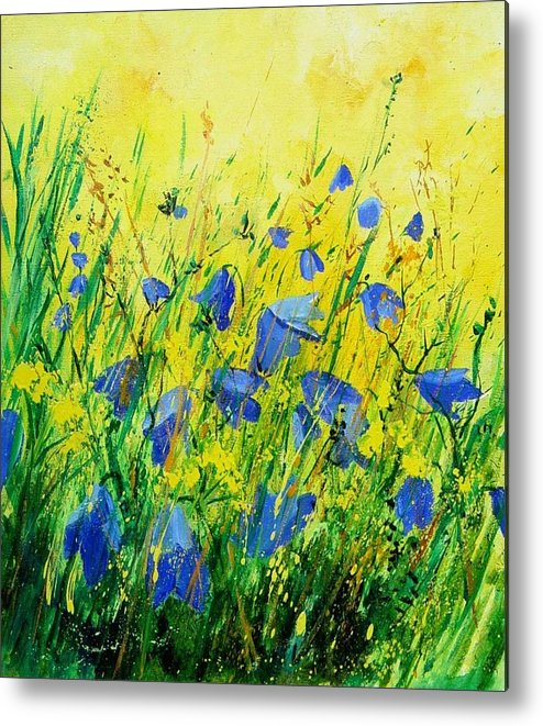 Poppies Metal Print featuring the painting Blue Bells by Pol Ledent