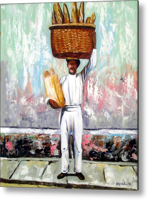 Bread Metal Print featuring the painting Breadman by Jose Manuel Abraham