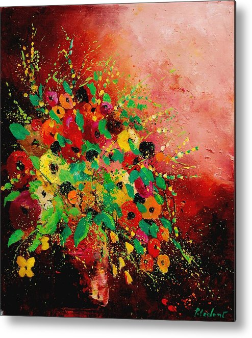 Flowers Metal Print featuring the painting Bunch Of Flowers 0507 by Pol Ledent