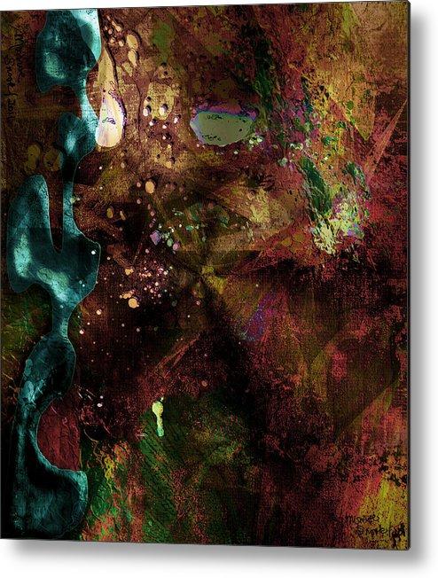 Abstract Metal Print featuring the digital art Color Matter by Jill Harrington