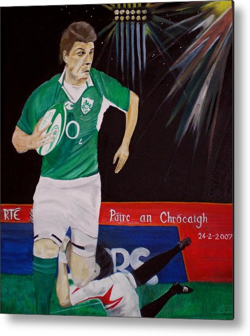 Brian O Driscoll Metal Print featuring the painting Croker by Colin O neill