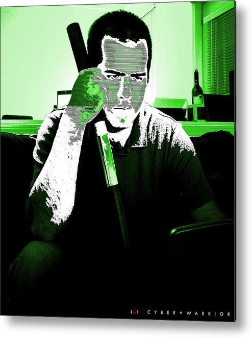 Me Metal Print featuring the photograph Cyber Plus Warrior by Jonathan Ellis Keys