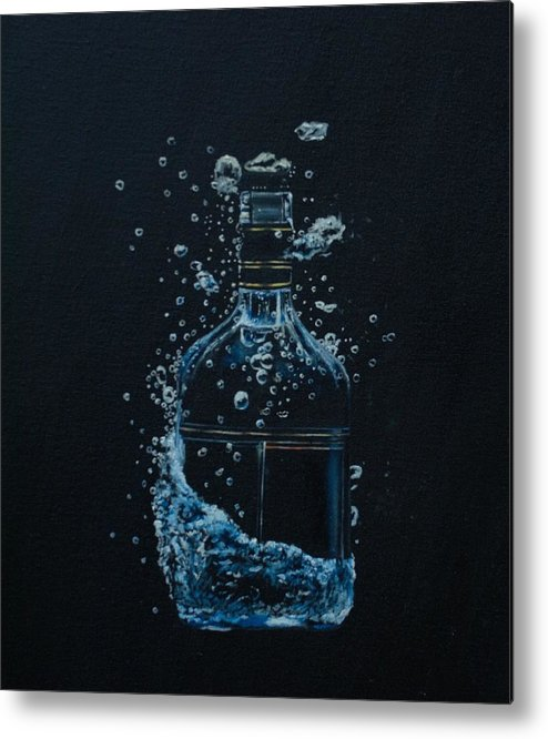 Bottle Metal Print featuring the painting Dry, Bottle Art by Laurel Moore