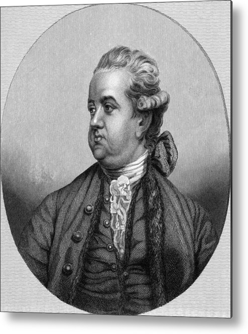 1700s Metal Print featuring the photograph Edward Gibbon, English Historian by Middle Temple Library