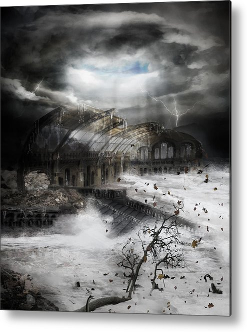 Hurricane Metal Print featuring the digital art Eye Of The Storm by Mary Hood