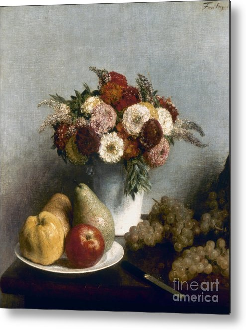 1865 Metal Print featuring the photograph Fantin-latour: Fruits, 1865 by Granger