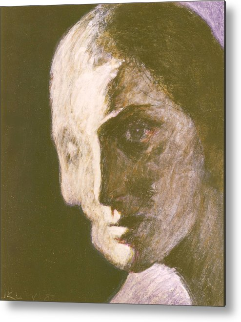 Head-study Metal Print featuring the painting Fear Of Growing Old by James LeGros