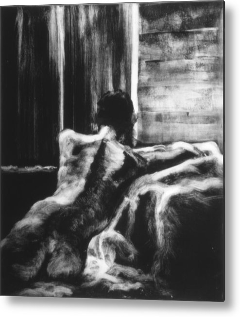 Female Metal Print featuring the painting Female II by John Clum
