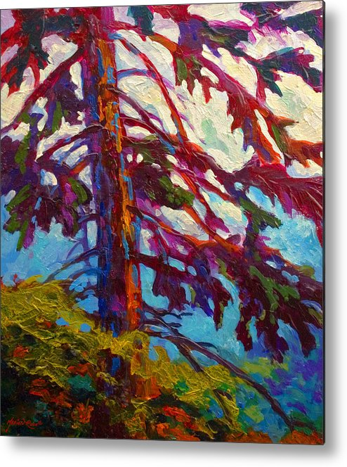 Trees Metal Print featuring the painting Forest Elder by Marion Rose