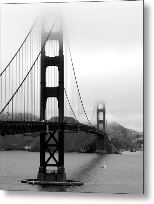 Vertical Metal Print featuring the photograph Golden Gate Bridge by Federica Gentile